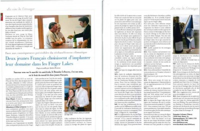 Thank you Wine planet for the great article about our new winery in the Finger Lakes !